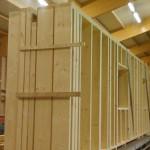 Sysytème poteaux-poutres en ossature bois